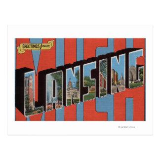 Lansing, Michigan - große Buchstabe-Szenen 2 Postkarte
