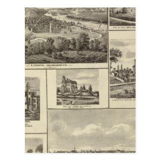 Lansing, Waukon und Wohnsitze in Nevada Postkarte