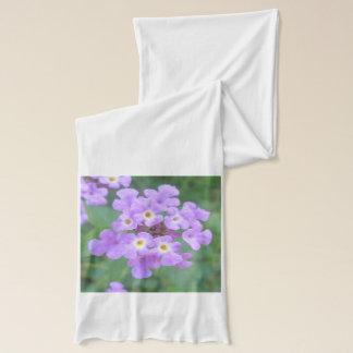Lantana-Pflanzen-lila Blumen Schal