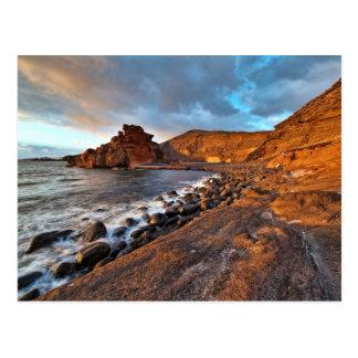 Lanzarote-Küsten-Kanarische Inseln Postkarte