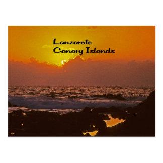 Lanzarote-Sonnenuntergang Postkarte