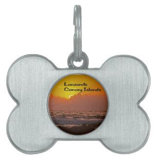 Lanzarote-Sonnenuntergang Tiermarke