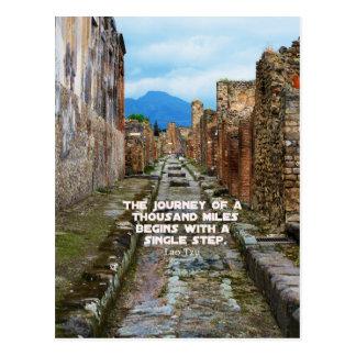 Lao Tzu REISE-Reisezitat Postkarte