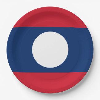 Laos-Flagge Pappteller