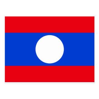 Laos-Flagge Postkarte