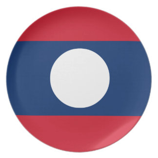 Laos-Flagge Teller