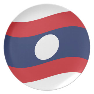 Laos-Flaggen-Welle Teller