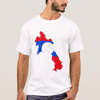 Laos-Flaggenkarte T-Shirt