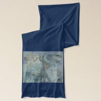 Lapis blauer Eiffle Schal Turm-Paris Jersey