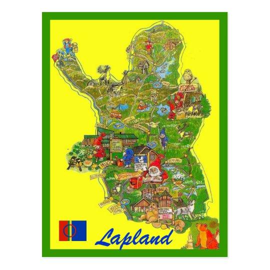 Lappland Karte.Lappland Karte Postkarte