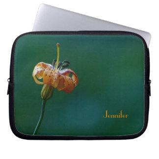 Laptop-Computer Hülsen-Gelb-Lilie Computer Sleeve Schutzhülle