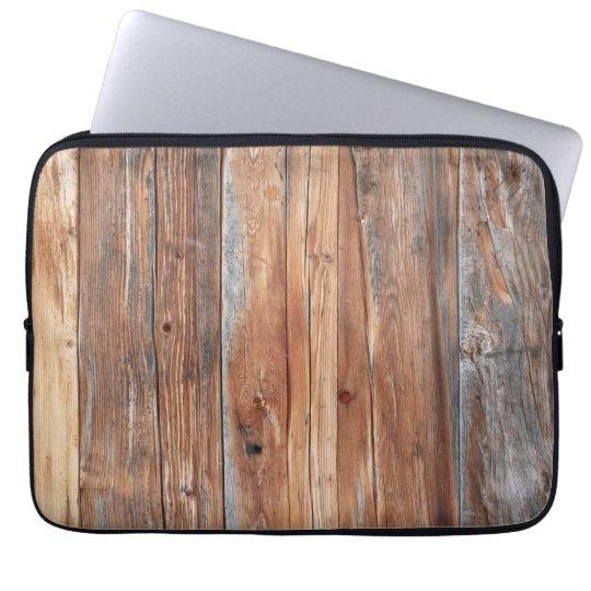 Laptop Hülle Holz retro Laptopschutzhülle