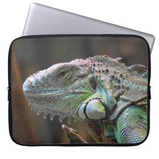 Laptop-Hülse mit Kopf der bunten Leguaneidechse Computer Schutzhülle