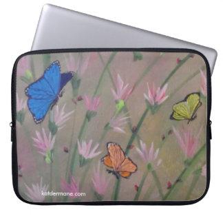 """Laptop-Kasten - """"Schmetterlinge sind frei """" Laptopschutzhülle"""