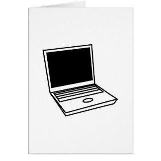 Laptop PC Grußkarte