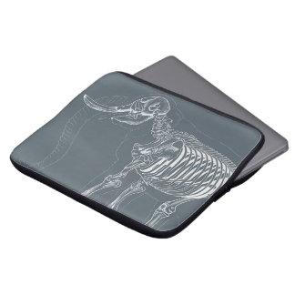 Laptophülse mit skeleton Entwurf des Elefanten Laptop Sleeve