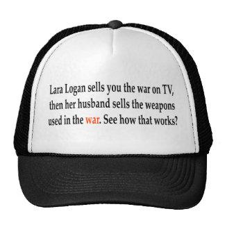Lara Logan verkauft Sie der Krieg im Fernsehen, da Baseball Mütze