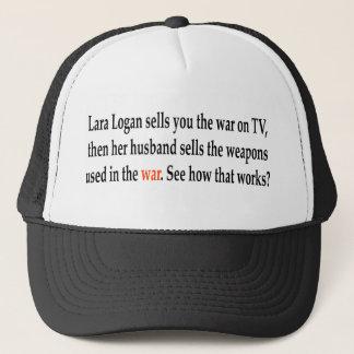 Lara Logan verkauft Sie der Krieg im Fernsehen, Truckerkappe