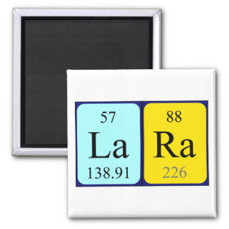 Lara-Periodensystemnamenmagnet Quadratischer Magnet