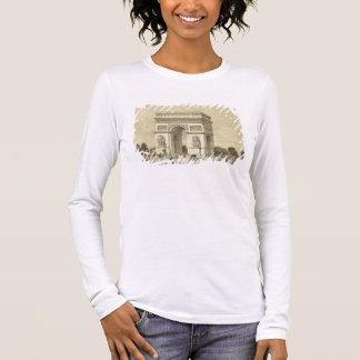 L'Arc de Triomphe, Paris, graviert von Auguste Bry Langarm T-Shirt