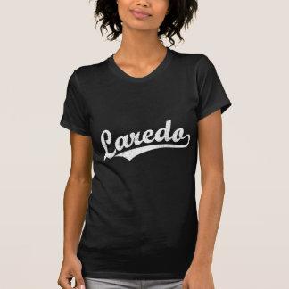 Laredo-Skriptlogo im Weiß beunruhigt T-Shirt