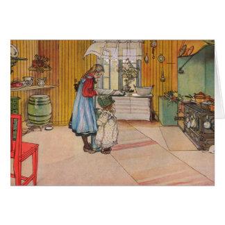 Larsson: Die Küche, Kunst Grußkarte