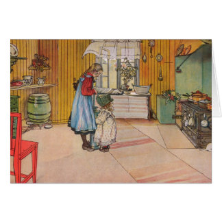 Larsson: Die Küche, Kunst Karte