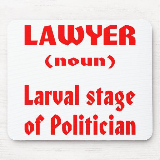 Larvale Bühne des Rechtsanwalt-(Nomen) des Politik Mauspads