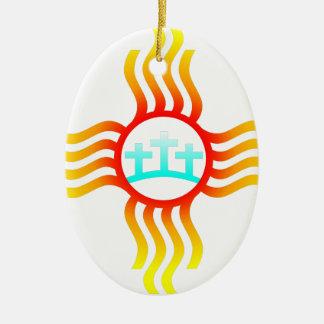 Las Cruces Nanometer Zia Keramik Ornament