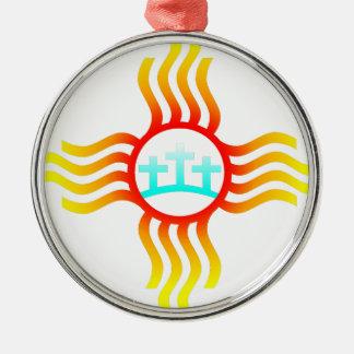 Las Cruces Nanometer Zia Silbernes Ornament