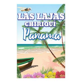 Las Lajas, Chiriquí Panama Strand-Reiseplakat Briefpapier