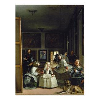Las Meninas oder die Familie von Philip IV, c.1656 Postkarte