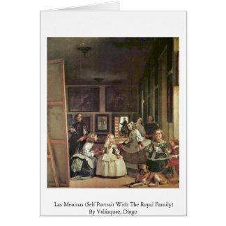 Las Meninas (Selbstporträt mit der Königsfamilie) Karte