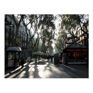 Las Ramblas, Barcelona, Postkarte
