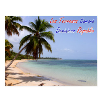 Las Terrenas Strand Samana Dominikanische Republik Postkarte