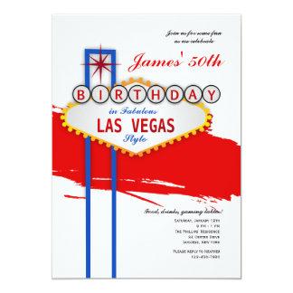 Las Vegas-Art-Geburtstags-Einladung 12,7 X 17,8 Cm Einladungskarte