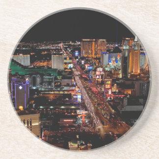 Las Vegas bis zum Nacht Sandstein Untersetzer