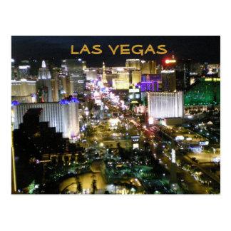 Las Vegas Boulevard nachts Postkarte