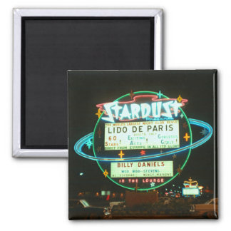 Las Vegas circa Stardust Kasino 1959 nachts Quadratischer Magnet