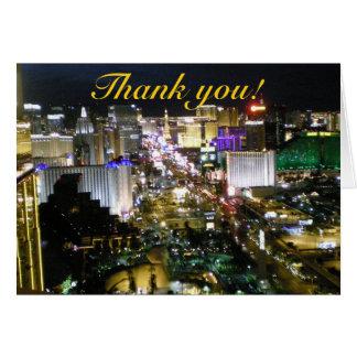 Las Vegas danken Ihnen Luftstreifen-Fotografie Karte