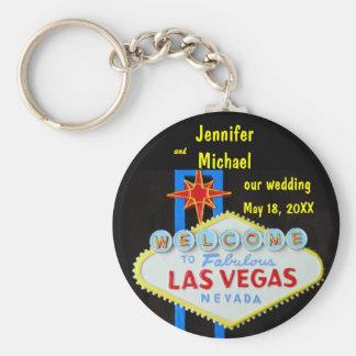 Las Vegas, das Datum Wedding ist Schlüsselanhänger
