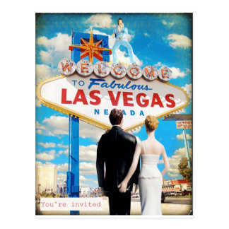 Las Vegas das Einladung Wedding ist Postkarte