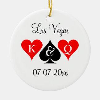Las Vegas, das kundenspezifischen Monogramm Rundes Keramik Ornament