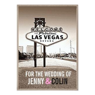 Las Vegas, das Vintagen Chic Wedding ist, lädt ein 12,7 X 17,8 Cm Einladungskarte