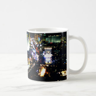 Las Vegas der Streifen nachts Kaffeetasse