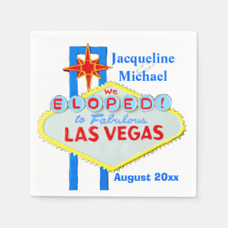 Las Vegas Elope Mitteilung Papierserviette