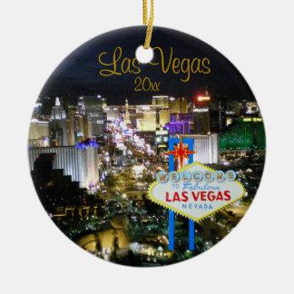 Las Vegas-Feiertags-Verzierung Keramik Ornament