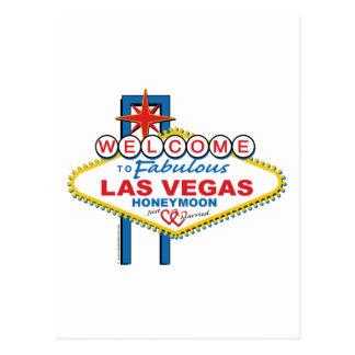 Las Vegas-Flitterwochen Postkarte