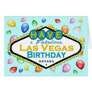 Las Vegas-Geburtstags-Karte! Grußkarte