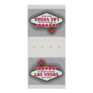 Las Vegas-Gedeck-Namenskarten-Silber Werbekarte